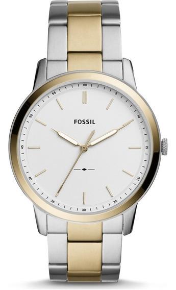 Relógio Fossil Fs5441 Analogico Original Masculino Aço