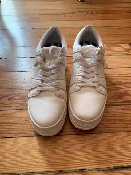 Zapatillas Zara Blancas N 39 Una Puesta
