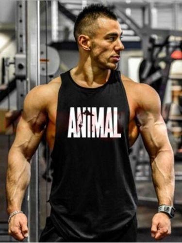 Camiseta Regata Cavada Animal Treino Musculação