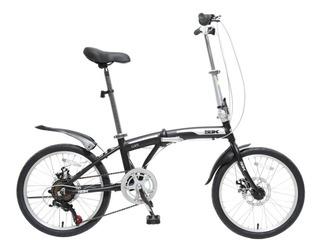 Bicicleta Plegable Folding Rodado 20 Con Cambios Shimano Cuadro Aluminio - Varon Mujer - Garantia - Happy Buy