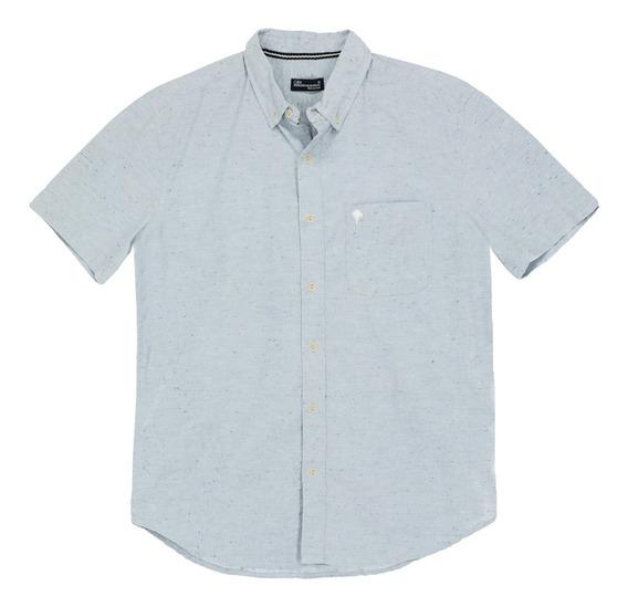 Camisa Denim Manga Corta De Hombre C&a 1050553