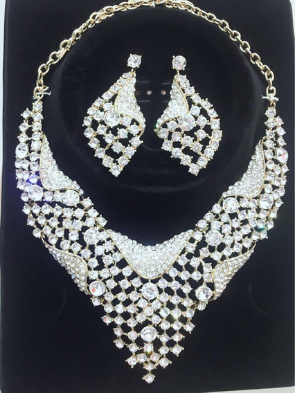 Colar Conjuntos Cristal Para Noiva E Festa 014
