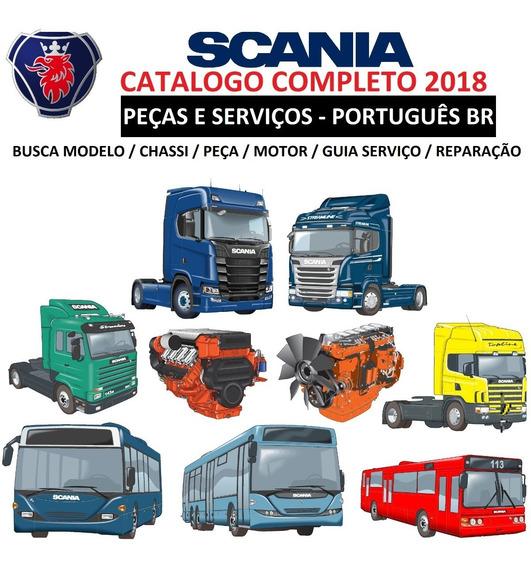 Catálogo Eletrônico Peças + Reparos Scania 2018 Completo