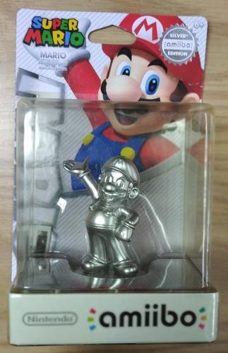 Amiibo. Mario. Silver Edition. Super Smash Bros. Versión Usa