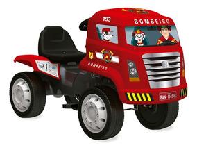 Caminhão Com Pedal - Caminhão De Bombeiros - Bandeirante