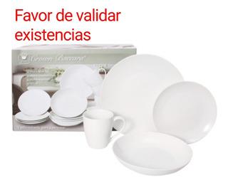 Vajilla De Porcelana Blanca, 16 Piezas