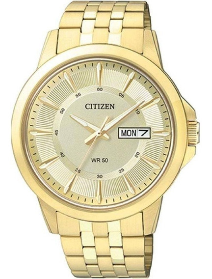 Relógio Citizen Dourado Masculino Social Orig Tz20528g Lc