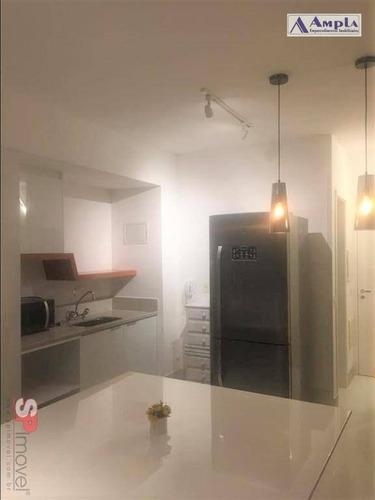 Apartamento Mobiliado Com 1 Dormitório Para Alugar, 36 M² Por R$ 3.000/mês - Tatuapé - São Paulo/sp - Ap1305