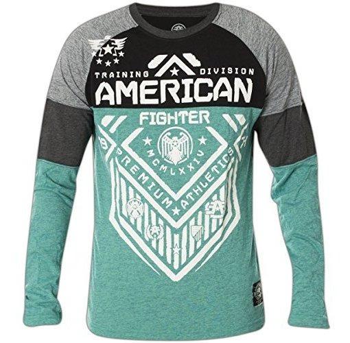 شروق الشمس حول المؤدي Camisas American Fighter Para Mujer Ffigh Org