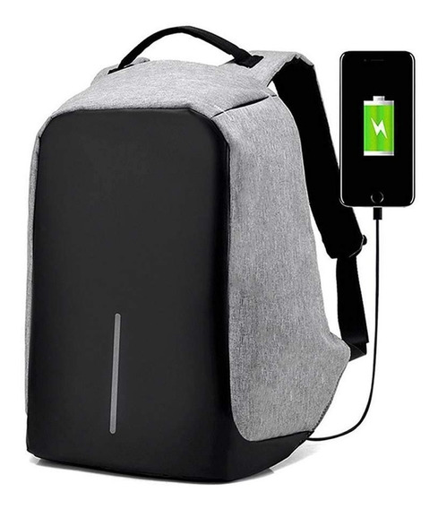 Mochila Antirrobo Impermeable Urbana Notebook Usb Anticorte