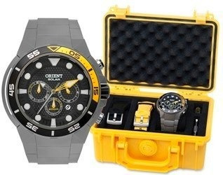 Relógio Orient Titanium Seatech Solar Mbttc014 P1gx
