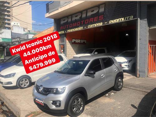 Renault Kwid 2018 1.0 Sce 66cv Iconic, $479.999 Y Cuotas