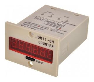 Contador Digital Industrial 6 Digitos Jdm11-6h 110-220v Ac
