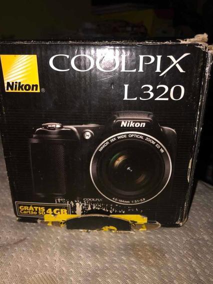 Câmera Nikon Coolpix L320 Defeito Na Tampa Da Lente