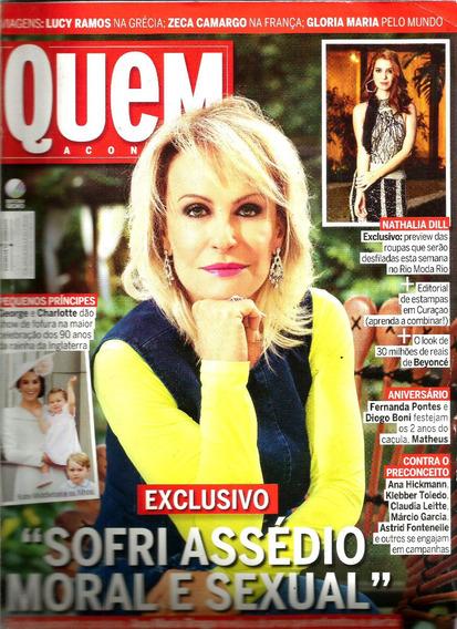 Revista Quem 821/16 - Anitta/ana Braga/lucy Ramos/letícia