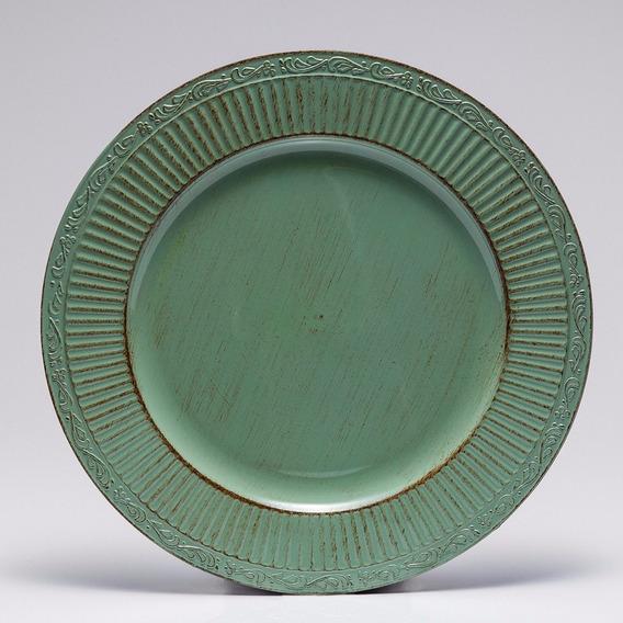 Jogo 8 Sousplat 33cm Plástico Verde Bon Gourmet 30178
