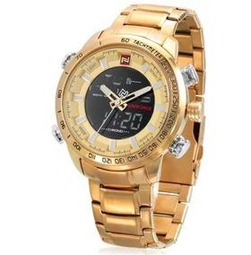 Relógio Naviforce 9093 Dourado Luxo Masculino