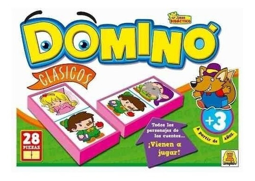 Imagen 1 de 4 de Juego De Mesa Domino Clásicos Implas