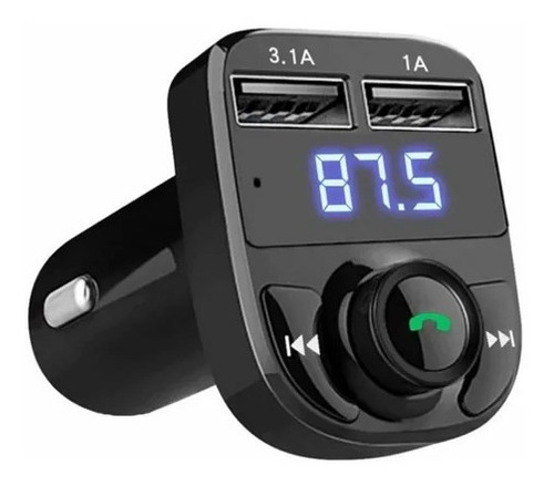 Imagen 1 de 5 de Transmisor Fm Receptor Bluetooth Audio Radio Auto Stereo Mp3