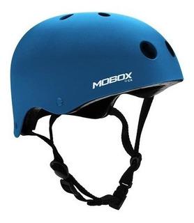 Casco Protector Mobox Monopatin Adulto Azul