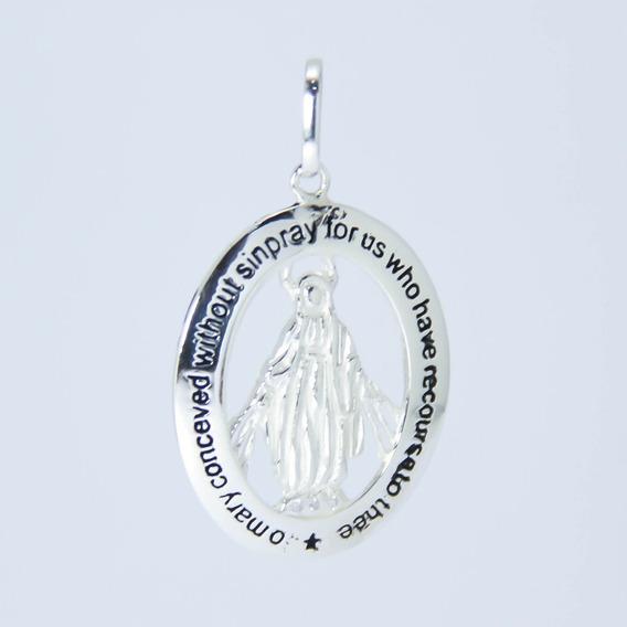 Pingente Nossa Senhora Das Graças Em Prata