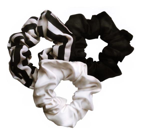 Scrunchies, Colita Para Pelo - Large, Pack Promo X3 U