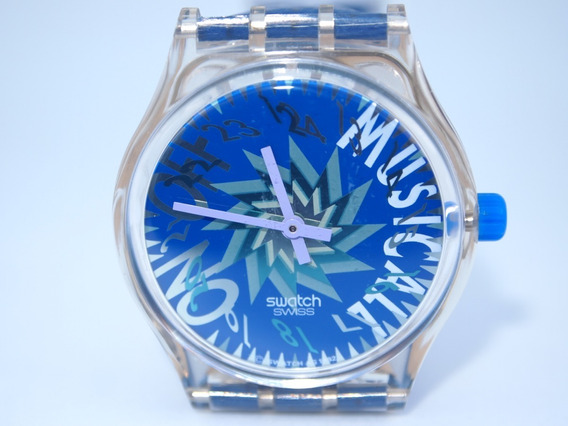Swatch Musicall Tone In Blue Slk100