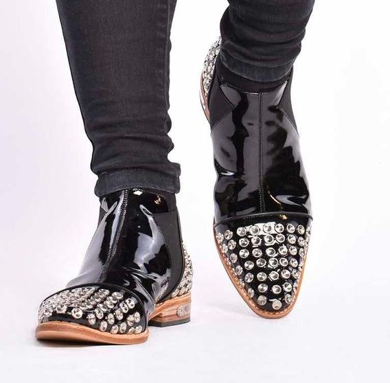 Bota Hombre Zapato Tachas Vestir