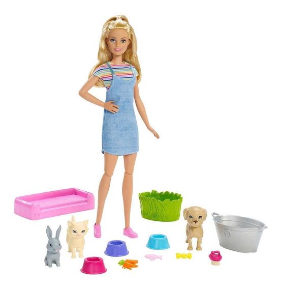 Barbie Real Banho De Cachorrinhos Mattel Fxh11