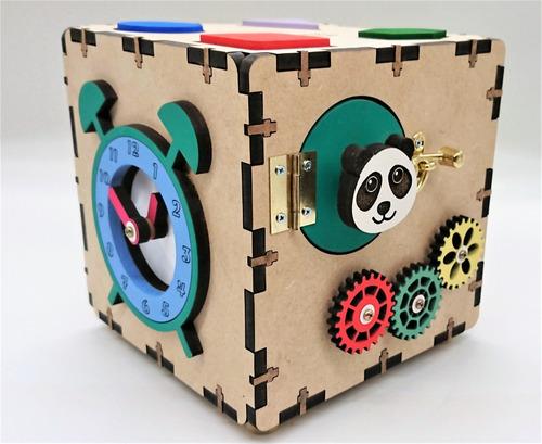 Imagem 1 de 7 de Mini Cubo Sensorial Estilo Montessoriano: