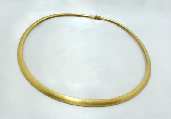 H.stern Colar Omega Fosco Em Ouro Amarelo 18k 750