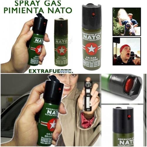 2 Gas Paralizante Pimienta Defensa 60 Ml. Lacrimogeno