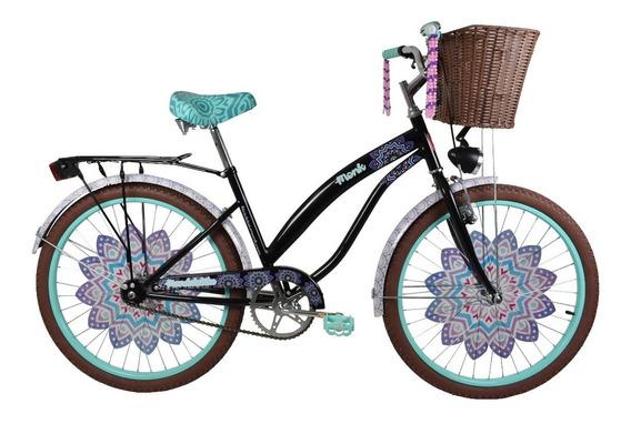 Bicicleta Monk Mandala Bike Rodada 24 1 Velocidades