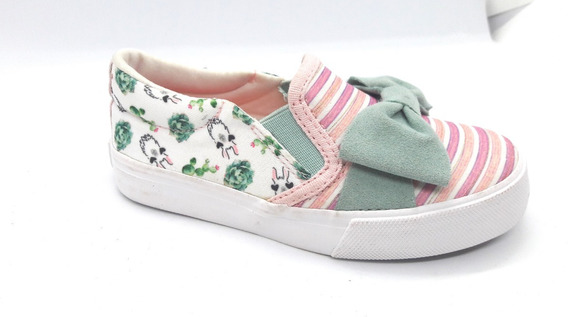 Alpargata Sugar Shoes Listrado Tenis Menina Couro List 25 5