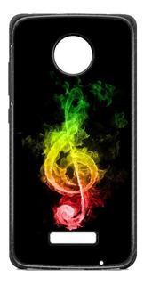 Funda Case Nota Musica Rasta Moto E4 Plus E5 Z2 Play G5 G6 C