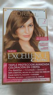 Loreal Excellence Creme Kit Coloración Crema Color 7 Rubio
