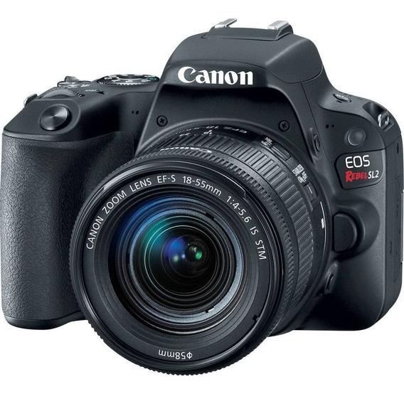 Câmera Profissional Canon Eos Rebel Sl2 32gb Lente 18-55 Stm