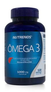 Omega 3 1000mg - Óleo De Peixe - 120 Capsulas - Nutrends