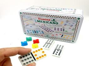 Jogo De Dominó Mexicano 91 Peças Lata - Hoyle - Completo