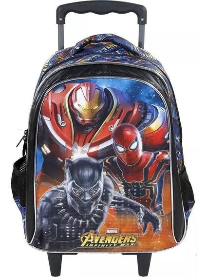 Mochila Avengers Armored De Rodinha Tam:g Xeryus 7490