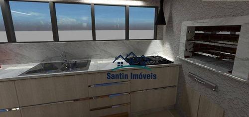 Apartamento Sem Condomínio Com Elevador , 02 Quartos(01 Suíte )fino Acabamento, Vaga Coberta À Venda, 64 M²  - Campestre - Santo André/sp - Ap2003