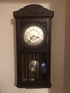 Antiguo Reloj De Pared A Pendulo Aleman Ref 943