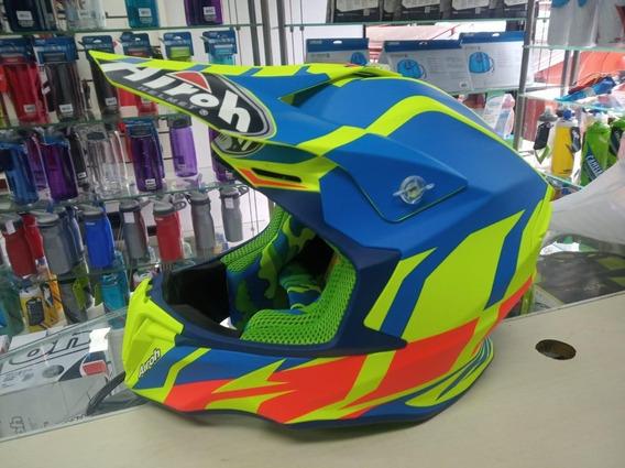 Capacete Airoh Twist Great Azure Para Motocross