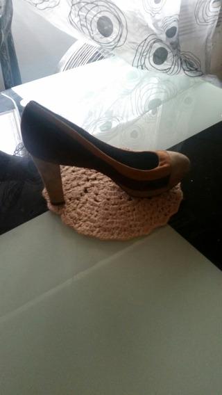 Zapatos De Cuero Bi Color , $500 El Par
