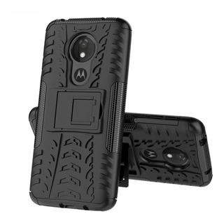 Capa Dupla Resistencia Suporte Moto G7 Play+pelicula Vidr 3d
