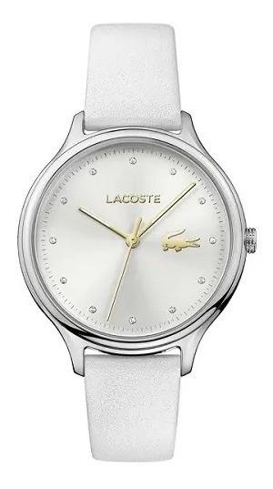 Relógio Lacoste Feminino Couro Branco - 2001005 Original