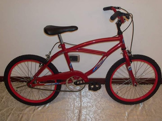 Bicicleta Rodado 20 Playera Flex Con Frenos En Los Puños.