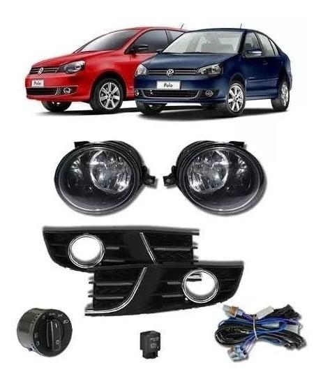 Kit Farol Milha Neblina Volkswagen Polo Novo 2012 Em Diante