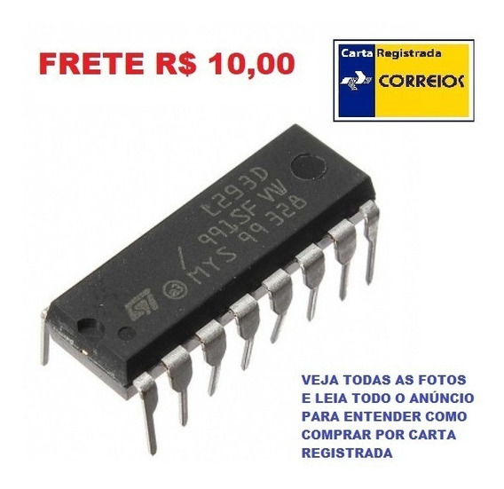 Kit 3 Ci L293 L293d Ponte H Dupla Motor De Passo Frete R$ 10