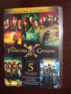 Box Dvd Coleção Completa Piratas Do Caribe 5 Filmes Dublado